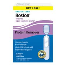 Bausch-Lomb Boston One Step Liquid Enzymatic Cleaner,Protein Remover 3.60mL
