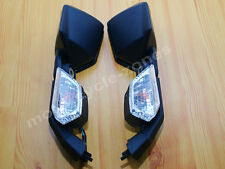 Black Side Rear View Mirrors Turn Signal For Kawasaki Ninja ZX10R 2008-2010 2009