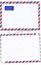25 enveloppes Silvine C6 collantes Par Avion Airmail (pr Feuille A5)