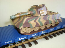 USA Trains Flatcar and King Tiger Motorized Battery Powered 1/32 Tank Kit NEW
