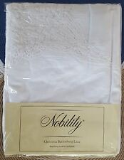 New Nobility Christina Battenburg Lace Tablecloth & 8 Napkins Set White 88""
