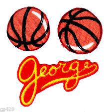 CURIOUS GEORGE MONKEY SPORTS BASKETBALL BALL  SET  FABRIC APPLIQUE SET IRON ON