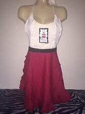 NWT Envogue White Red Black Cooking Apron  Kitchen Wear Cute!