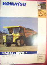 ✪ viejo folleto original/sales brochure Komatsu Truck hd465-7/hd605-7