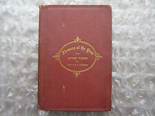 Antique 1869 Book Flowers of the Year Poetry Letitia Simson Saint John NB