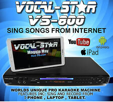 VOCAL-STAR VS-800 CDG DVD KARAOKE MACHINE PLAYER 2 MICROPHONES & 300 SONGS
