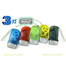 1pcs 3 LED Dynamo Wind Up Flashlight Hand-pressing Crank NR No Battery Torch