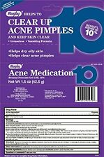 2 Pack - Benzoyl Peroxide 10% Generic Oxy Balance Acne Medication Gel 1.5oz Each