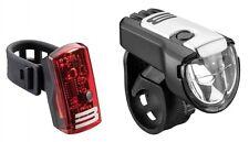 BULLSEYES Batteriebeleuchtung Akku StVZO Set Fahrrad Beleuchtung USB 15 Lux AXA