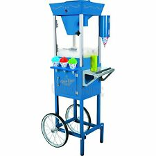 Snow Cone Machine w/ Antique Style Trolley Cart Stand, Shaved Ice SnowCone Maker