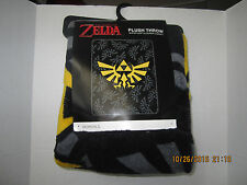 "The Legend Of Zelda Triforce Logos Super Plush Throw 48""x 60"" Blanket NEW 2016"