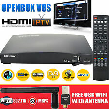 Openbox V8S 2016 HD Receptor de Satélite Digital Freesat Grabadora De Caja + wifi Dongle