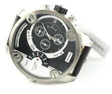 Diesel DZ7256 Men's 51mm watch, Large Daddy Black Dial Leather Strap - NEW