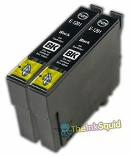 2 Black T1291 'Apple' Ink Cartridge (non-oem) fits Epson Stylus WF3540DTWF