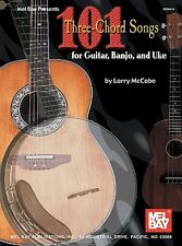 101 THREE CHORD SONGS FOR UKULELE GUITAR BANJO by LARRY MCCABE UKE SONG BOOK