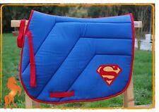 Tapis de selle Superman bleu FABRIQUE en FRANCE Idée Cadeau