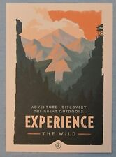 FIREWATCH Olly Moss EXPERIENCE the Wild MINI ART PRINT 5x7 Poster Postcard