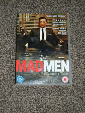 MAD MEN -  SEASON THREE ( 3 ) -  3 DISC DVD BOX SET (FREE UK P&P)