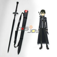 Sword Art OnlineⅡMother's Rosary Kirito's Black Sword with Strap Cosplay Prop