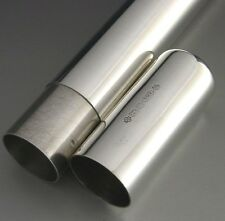 QUALITY SOLID STERLING SILVER CIGAR CASE TUBE 2000 THICK GAUGE 69g