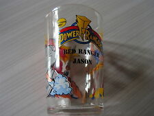 N°8 ANCIEN VERRE A MOUTARDE POWER RANGER RED RANGER JASON