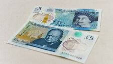 BRAND NEW POLYMER PLASTIC £5 FIVE POUND ENGLAND BANK NOTE SERIAL AK1.. FIRST RUN