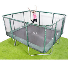 14x16ft Rectangle Trampoline - Inc Net/Pads/Mat/Springs/Frame & FREE ladder