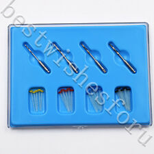 1 Box Dental Polymer Spiral Fibre Resin 20 Pcs Fill Fiber Post & 4 Screw Drills