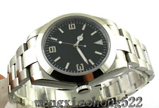 40MM black Dial sterile stainless Automatic Sapphire Glass Mens Watch 025 Parnis