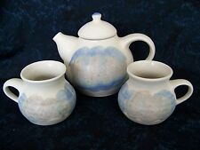 Kravec Studios Pottery TEAPOT and 2 MUGS Handcrafted Naples FL