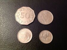 Malta 50 Cent 1972,25 Cent 1986, 10 Cents 1986, 5 Cent 1986 EF FAST AND FREE