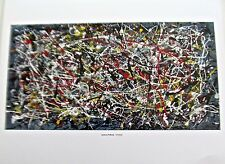 Jackson Pollock Untitled  1949 Drip Style Painting  Offset Lithograph 14X11