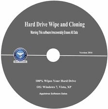 Wipes & Clone Your Hard Drive-Government and Military Compliant   New 2016