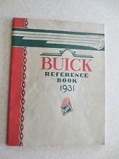 Original 1931 Buick automobile owner's manual - General Motors