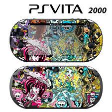 Vinyl Decal Skin Sticker for Sony PS Vita Slim 2000 Monster High Ghoul Skull