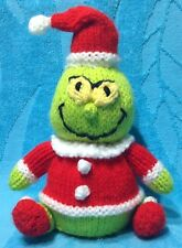 KNITTING PATTERN - Christmas Grinch inspired chocolate orange cover / 17 cms toy