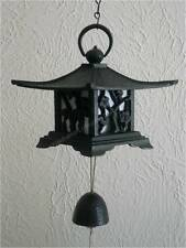 "6"" x 6"" Wind Chimes FURIN Lantern Bamboo/Plum Nambu Cast Iron W/Bell/Made Japan"