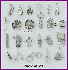 23 Mixed Pack of 'Fifty Shades of Grey' Christian Charms Handcuff Tie Bed '50'