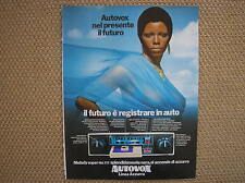 AUTORADIO AUTOVOX SUPER MA 777 MELODY 1972 PUBBLICITA ADVERTISING WERBUNG