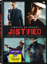 Justified . The Complete Season 1 2 3 4 . Timothy Olyphant . 12 DVD . NEU