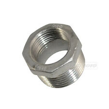 "1"" Male x 3/4"" Female Thread Reducer Bushing Pipe Fitting SS 304 NPT NEW"