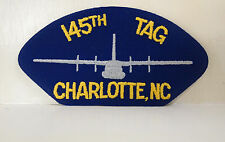 145th TAG Charlotte, NC blue patch with grey plane patches USN USAF USA NEW