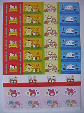 Sanrio Stickers/Labels Hello Kitty Little Twin Stars My Melody   1976, 2000 NEW