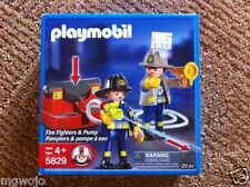 Playmobil 5829 Fire Fighters & Pump hoses shoot water  New in Box
