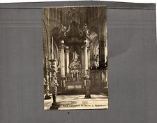 Belgium Gand Cathedral alter vintage 1920's unposted A77