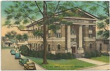 Masonic Temple in Hattiesburg MS Postcard 1942