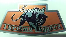 1x Scomadi Badge Printed Decal Sticker Lambretta Vespa innocenti mod nos vinyl O