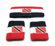 Trinidad and Tobago Sweatband Wristband Port of Spain Soca Calypso Reggae Rasta