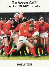 "Robert Jones, Gales Occidental correo ""Welsh Rugby grandes Collection"" Rugby Tarjeta"