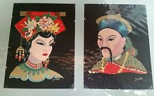 VINTAGE MANCHURIAN COUPLE PRINTS J RIEDELL CHINA